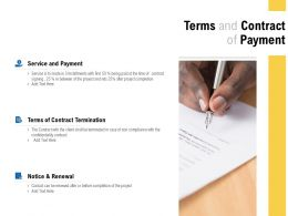 Terms And Contract Of Payment Ppt Powerpoint Presentation Icon Summary