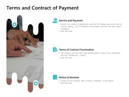 Terms And Contract Of Payment Ppt Powerpoint Presentation Icon Vector