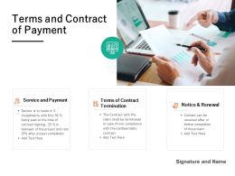 Terms And Contract Of Payment Ppt Powerpoint Presentation Slides Example File