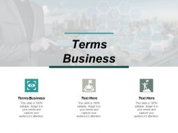 Terms Business Ppt Powerpoint Presentation Ideas Picture Cpb
