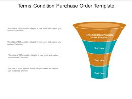 Terms Condition Purchase Order Template Ppt Powerpoint Presentation Layouts Show Cpb