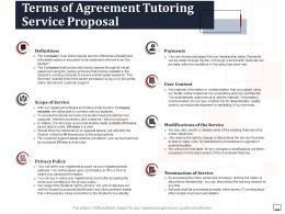 Terms Of Agreement Tutoring Service Proposal Ppt Powerpoint Summary Slides