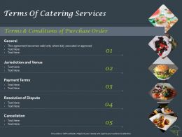 Terms Of Catering Services Ppt Powerpoint Presentation Model Grid