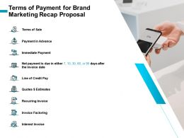 Terms Of Payment For Brand Marketing Recap Proposal Ppt Clipart