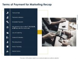 Terms Of Payment For Marketing Recap Ppt Powerpoint Presentation Styles Visuals