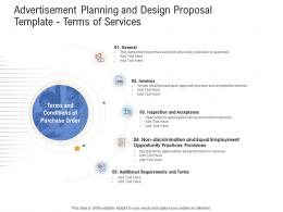 Terms Of Services Advertisement Planning And Design Proposal Template Ppt Powerpoint Show