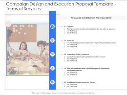Terms Of Services Campaign Design And Execution Proposal Template Ppt Powerpoint Styles