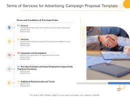 Terms Of Services For Advertising Campaign Proposal Template Ppt Powerpoint Presentation Ideas