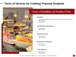 Terms Of Services For Catering Proposal Template Duly Ppt Powerpoint Mockup