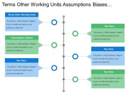 Terms Other Working Units Assumptions Biases Shared Vision Objectives