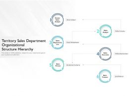 Territory Sales Department Organizational Structure Hierarchy