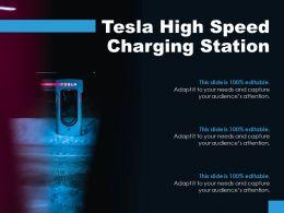 Tesla High Speed Charging Station