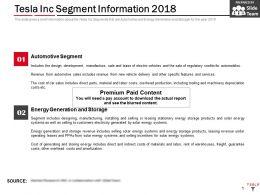 Tesla Inc Segment Information 2018
