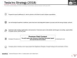 Tesla Inc Strategy 2018