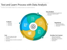 Test And Learn Process With Data Analysis