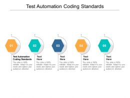 Test Automation Coding Standards Ppt Powerpoint Presentation Layouts Graphics Cpb