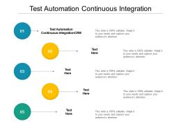 Test Automation Continuous Integration Ppt Powerpoint Presentation Ideas Skills Cpb