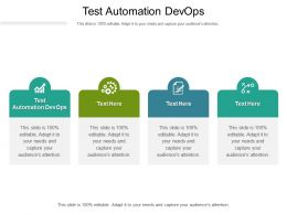 Test Automation Devops Ppt Powerpoint Presentation Show Graphics Design Cpb