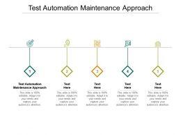 Test Automation Maintenance Approach Ppt Powerpoint Presentation Slides Inspiration Cpb