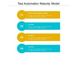 Test Automation Maturity Model Ppt Powerpoint Presentation Inspiration Good Cpb