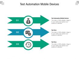 Test Automation Mobile Devices Ppt Powerpoint Presentation File Master Slide Cpb