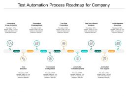 Test Automation Process Roadmap For Company