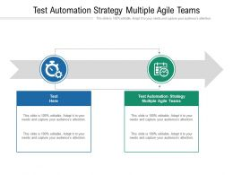 Test Automation Strategy Multiple Agile Teams Ppt Powerpoint Presentation Ideas Show Cpb