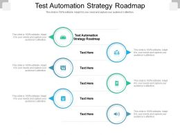 Test Automation Strategy Roadmap Ppt Powerpoint Presentation Slides Outfit Cpb