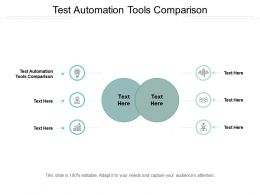 Test Automation Tools Comparison Ppt Powerpoint Presentation Professional Vector Cpb