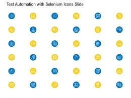 Test Automation With Selenium Icons Slide Ppt Powerpoint Presentation Professional Picture