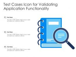 Test Cases Icon For Validating Application Functionality