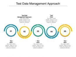 Test Data Management Approach Ppt Powerpoint Presentation Gallery Portfolio Cpb