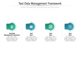 Test Data Management Framework Ppt Powerpoint Presentation Outline Picture Cpb