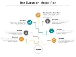 Test Evaluation Master Plan Ppt Powerpoint Presentation Portfolio Professional Cpb