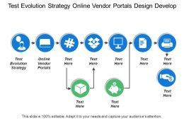 Test Evolution Strategy Online Vendor Portals Design Develop