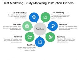 Test Marketing Study Marketing Instruction Bidders Proposal Forms