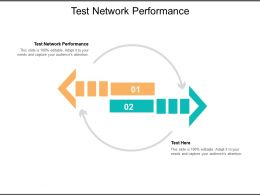 Test Network Performance Ppt Powerpoint Presentation Show Guidelines Cpb