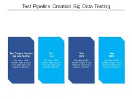 Test Pipeline Creation Big Data Testing Ppt Powerpoint Presentation Inspiration Structure Cpb