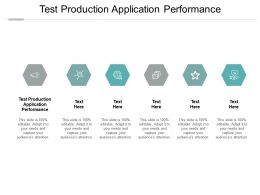 Test Production Application Performance Ppt Powerpoint Presentation Ideas Graphics Design Cpb