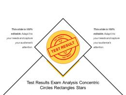 Test Results Exam Analysis Concentric Circles Rectangles Stars
