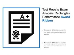 Test Results Exam Analysis Rectangles Performance Award Ribbon
