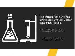 Test Results Exam Analysis Showcased By Flask Beaker Experiment Science