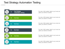 Test Strategy Automation Testing Ppt Powerpoint Presentation Infographics Objects Cpb