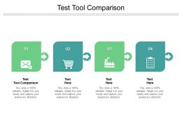 Test Tool Comparison Ppt Powerpoint Presentation File Example Cpb