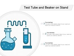 Test Tube And Beaker On Stand