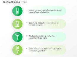 Test Tube Beaker Funnel Chemical Reaction Ppt Icons Graphics