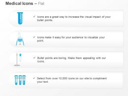 Test Tube Flask Chemical Reaction Ppt Icons Graphics