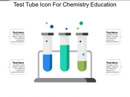 Test Tube Icon For Chemistry Education