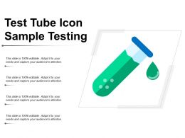 Test Tube Icon Sample Testing