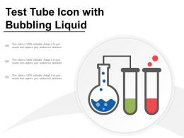 Test Tube Icon With Bubbling Liquid